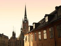 Stockholm kościelna iglica Obrazy Royalty Free
