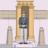 Stockholm Koninklijke gardesoldaat Vector stock afbeeldingen