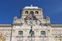 Stockholm landmark. The Royal Dramatic Theatre (known as Dramaten royalty free stock photo