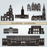 Stockholm landmarks and monuments Stock Photography