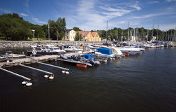 Stockholm marina Royalty Free Stock Images