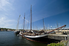 Stockholm marina Royalty Free Stock Images