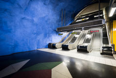 Stockholm metro station, Sweden, Europe Royalty Free Stock Images