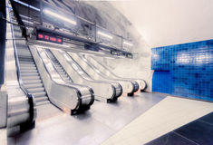 Stockholm metro station, Sweden, Europe Royalty Free Stock Photography