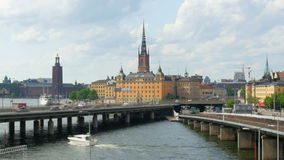 stockholm miasta stary widok, sweeden zbiory