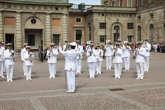 Stockholm - Military Orchestra Royalty Free Stock Photography