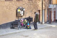 Stockholm Moeder en kinderen Stock Afbeeldingen