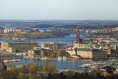 Stockholm in the Morning Sunglight Stock Photography