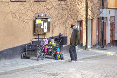 Stockholm. Mother and children Stock Images