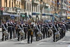 Stockholm - Musiker der königlichen Militärkapelle Lizenzfreie Stockbilder