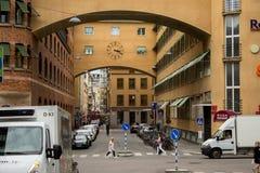 Stockholm nära järnvägsstationen royaltyfri foto