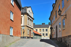 Stockholm. Narrow street at Sodermalm Royalty Free Stock Images