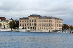 Stockholm national museum. Building in sweden royalty free stock images