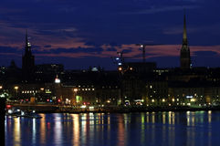 Stockholm by night Stock Image