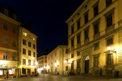 Stockholm at night Royalty Free Stock Images