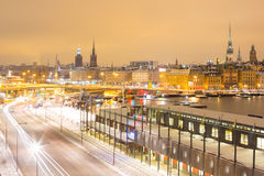 Stockholm at night Stock Photography