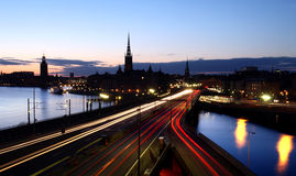 Stockholm by Night Royalty Free Stock Photos