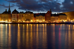 Stockholm night image. Royalty Free Stock Photography