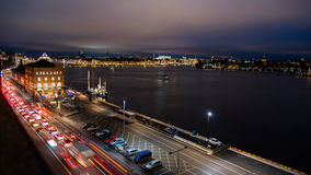 Stockholm. By night. Overlooking the Museum of photo Stock Photo