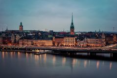 Stockholm at Night royalty free stock photo