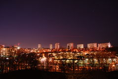 Stockholm at night. A view of Stockholm city at night Stock Photography