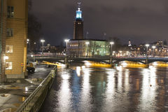 Stockholm night Royalty Free Stock Image