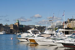 Stockholm Nybroviken Lizenzfreies Stockfoto