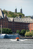 Stockholm. The old buildings on the seaboard Royalty Free Stock Photos