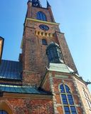 Stockholm old church. Old church tower in Stockholm city Stock Photography