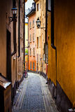 Stockholm old city street Royalty Free Stock Photo