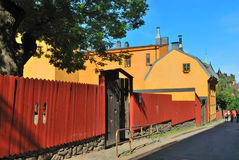 Stockholm. Old houses Royalty Free Stock Images