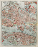 Stockholm old map Royalty Free Stock Image