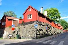 Stockholm.  Old street in Sodermalm Stock Image