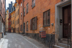 Stockholm old streets Stock Photography