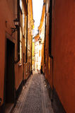 Stockholm old town alley, Sweden. royalty free stock images