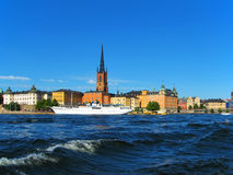 Stockholm, the Old Town. Scenic view of historical center of Stockholm, Sweden royalty free stock images