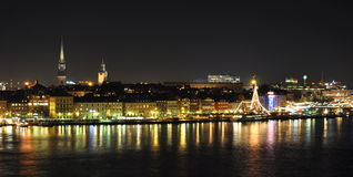 Stockholm old town night Stock Photography