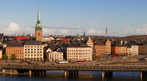 Stockholm Old Town panorama. Royalty Free Stock Images