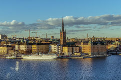 Stockholm old town panorama Royalty Free Stock Photo