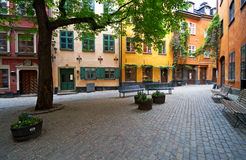 Stockholm Old Town square. Stock Photos