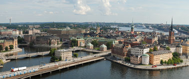 Stockholm Old Town in Sweden. Stockholm is the capital of Sweden, it is the largest and the most populous city in Sweden, and it is located on 14 islands Stock Images
