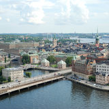 Stockholm Old Town in Sweden. Stockholm is the capital of Sweden, it is the largest and the most populous city in Sweden, and it is located on 14 islands Royalty Free Stock Images