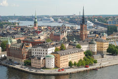 Stockholm Old Town in Sweden. Stockholm is the capital of Sweden, it is the largest and the most populous city in Sweden, and it is located on 14 islands Stock Image