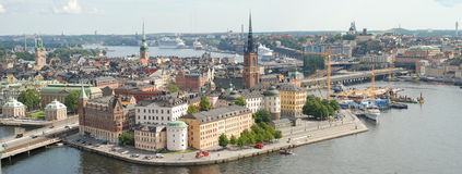 Stockholm Old Town in Sweden. Stockholm is the capital of Sweden, it is the largest and the most populous city in Sweden, and it is located on 14 islands Stock Photography