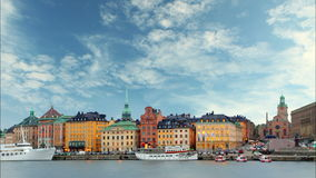 Stockholm - Old Town, Time lapse stock video