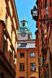 Stockholm, Oude Stad stock afbeeldingen