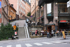Stockholm outdoor cafe Royalty Free Stock Image