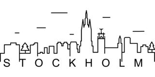 Stockholm outline icon. Can be used for web, logo, mobile app, UI, UX vector illustration