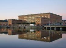 Stockholm pałac królewski Zdjęcie Royalty Free