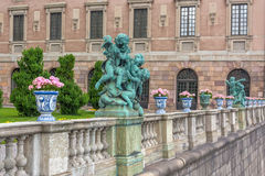 Stockholm Palace details Royalty Free Stock Image